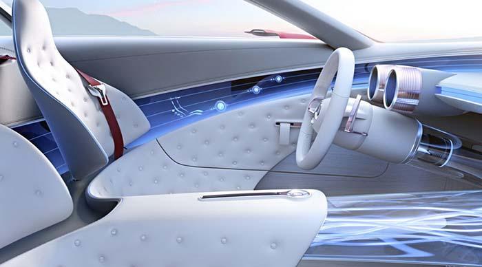 Interior del Vision Mercedes-Maybach 6 prototipo