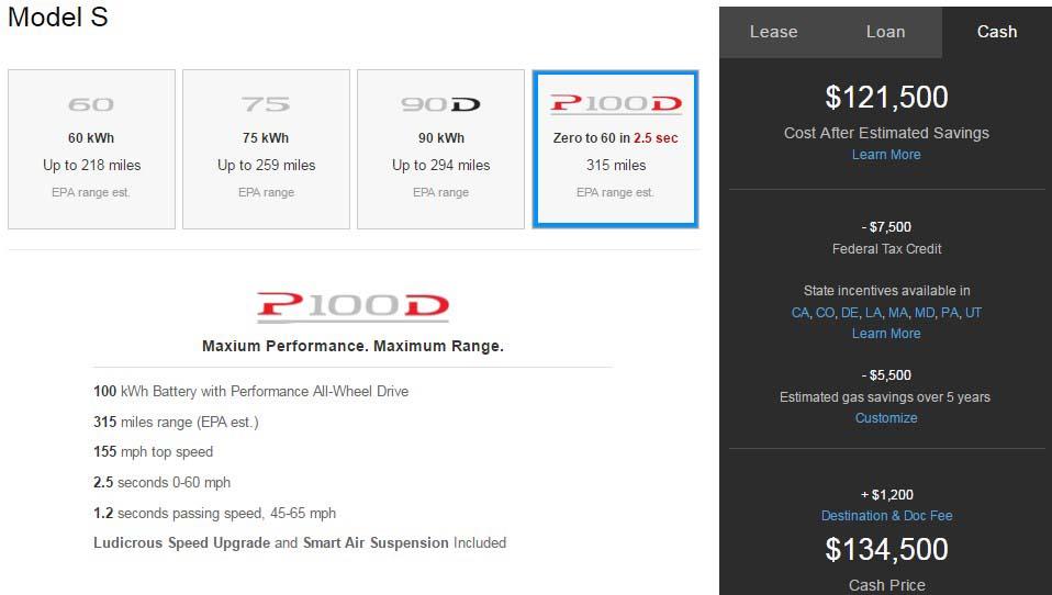 Las versiones P100DL del Model S y del Model X