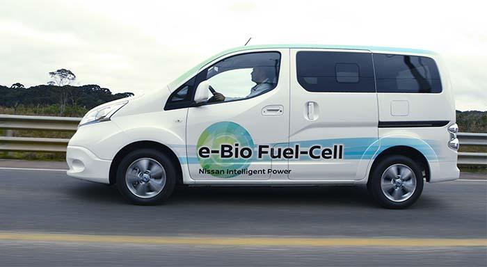 Nissan e-NV200 movida por la pila de combustible SOFC