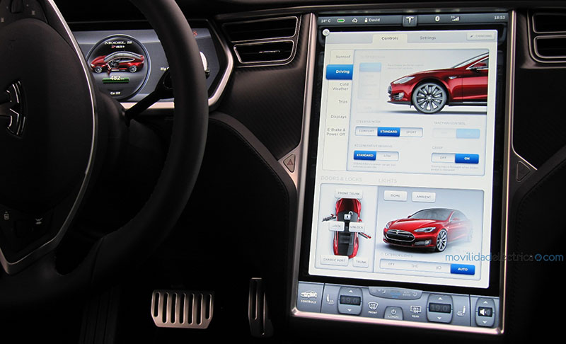 Pantallas de 17 pulgadas del Model S