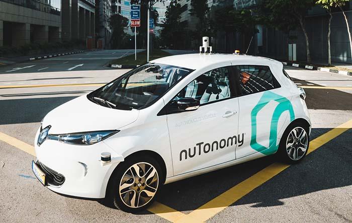 Renault Zoe autónomo de nuTonomy