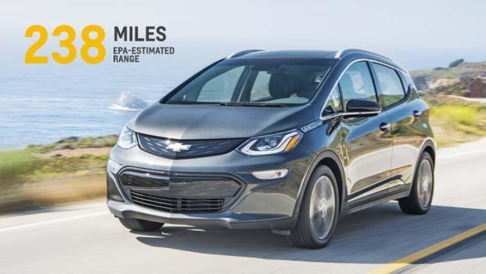 383 kilómetros de autonomía pra el Chevrolet Bolt