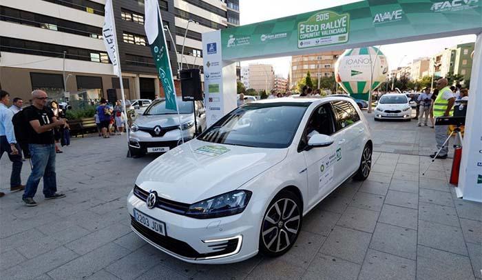 Volkswagen Golf GTE participante en el Eco Rallye de la Comunitat Valenciana 2015