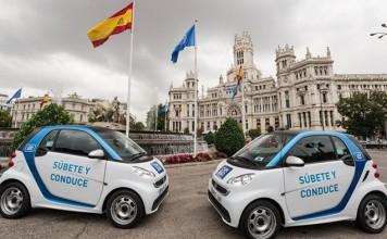 Coches eléctricos de Car2go en Madrid
