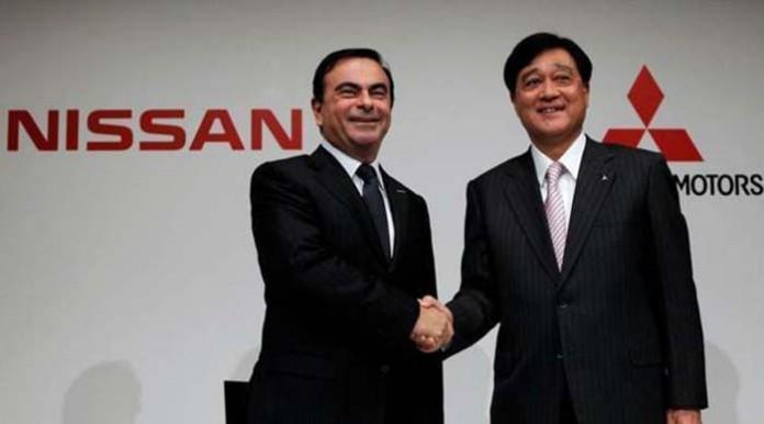 Carlos Ghosn y Osamu Masuko. Se acerca el primer híbrido enchufable de Nissan