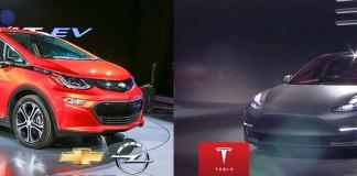 Chevrolet Bolt Tesla Model 3