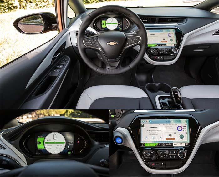 El Chevrolet Bolt recorre 300 kilómetros. Interior. Fotos de Car&Driver