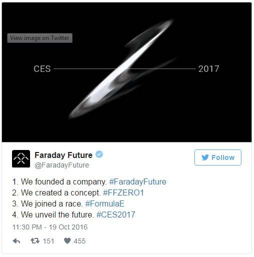 El coche eléctrico de Faraday Future en el CES de Las Vegas