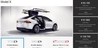 Versiones disponibles. El Tesla Model X 60D sale del catálogo