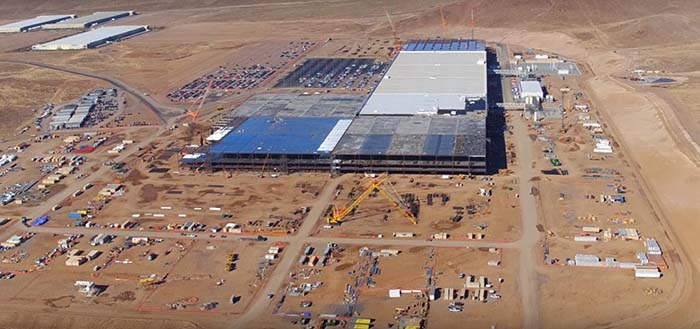 La Gigafactoría a vista de dron – Noviembre 2016