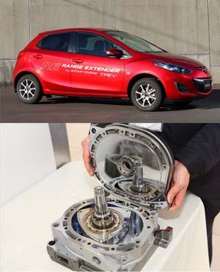 Motor rotativo extensor de rango de Mazda