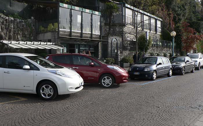 Nissan Leaf de 30 kWh en el Lago de Como