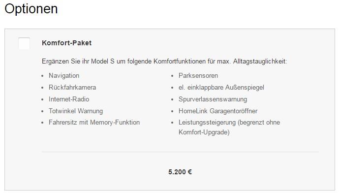 Pack Comfort con el que Tesla ajusta el precio del Model S en Alemania
