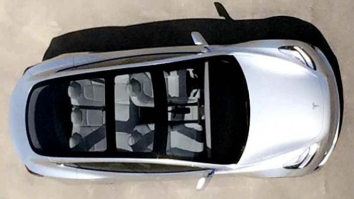 Techo solar en el Tesla Model 3