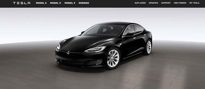 Configurador web de Tesla en Alemania