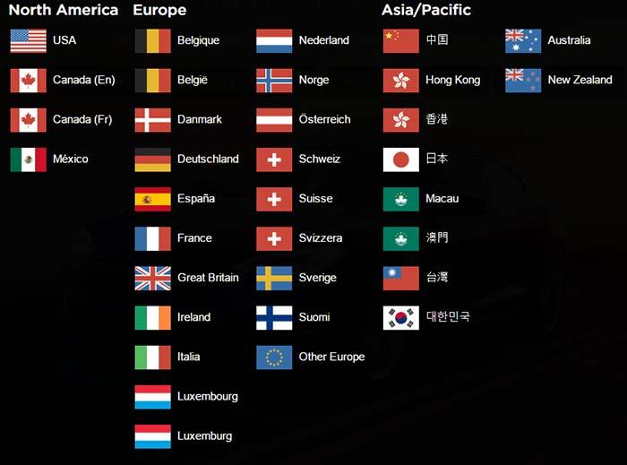 Países en los que Tesla vende directamente