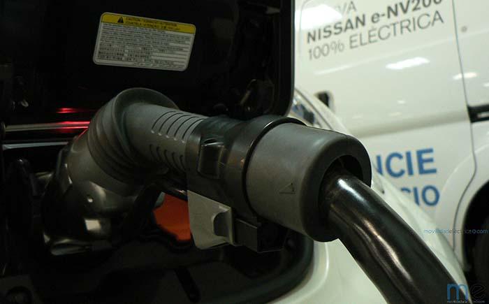 Carga CHAdeMO del Nissan Leaf en un concesionario Nissan