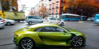El DS E-Tense por las calles de Madrid