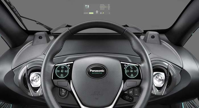 El nuevo head-up display de Panasonic