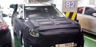 El posible SUV eléctrico de Hyundai camuflado