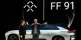 Jia Yuating CEO de Leeco y Nick Sampson Vicepresidente de Investigación y Desarrollo de Producto de Faraday Future