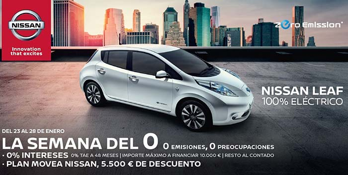 Nissan adelanta el Plan Movea del 23 al 28 de enero