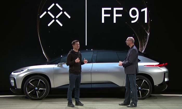 Presentación del FF 91 en el CES 2017 de Las Vegas