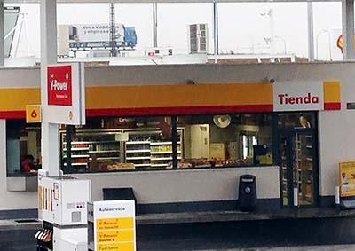 Tienda gasolinera Shell