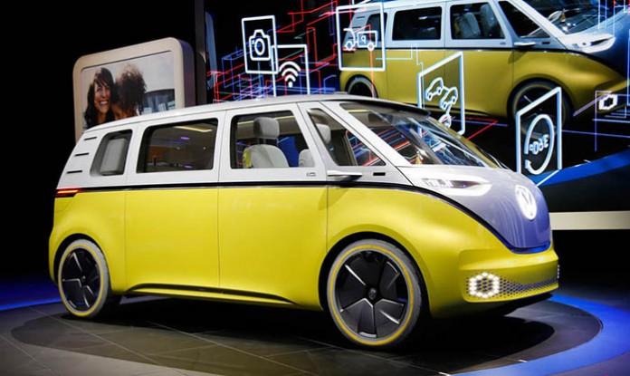 Volkswagen I.D. BUZZ prototipo en el Salón del Automovil de Detroit-Foto Autocar