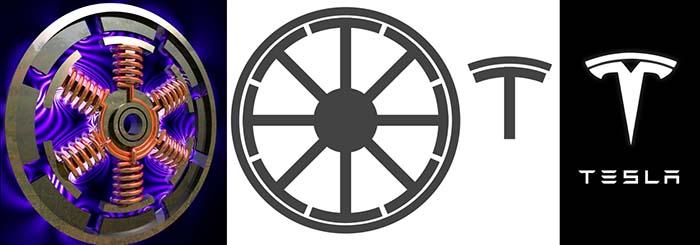 La T del logo de Tesla Motors representa la sección de un motor eléctrico