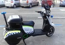 Los agentes de movilidad de Madrid en moto eléctrica Scutum Silence S02