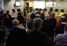 Reunión de la alcaldesa de Santa Perpetua de Mogoda Isabel García con los empresarios