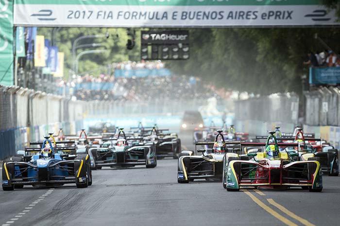 Salida del ePrix de Buenos Aires