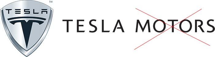 Tesla ha eliminado la palabra Motors de su nombre