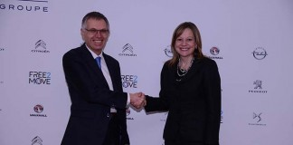 Carlos Tavares del grupo PSA y Mary Barra de General Motors