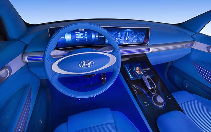 Interior del Hyundai FE Fuel Cell
