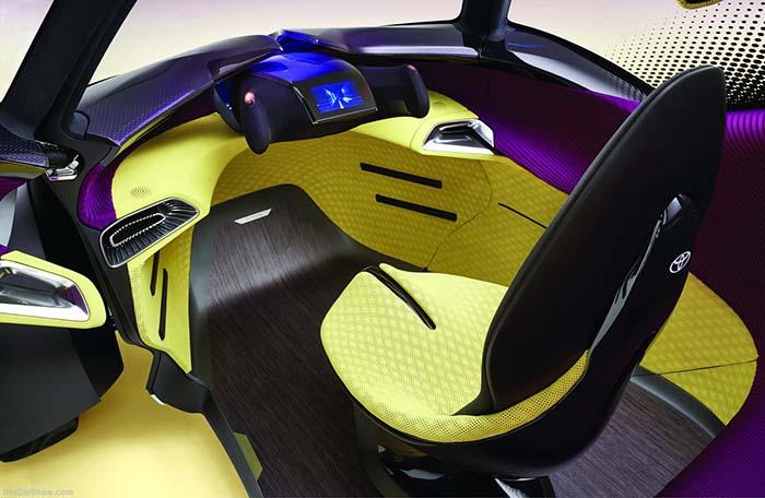 Interior del Toyota i-Tril concept