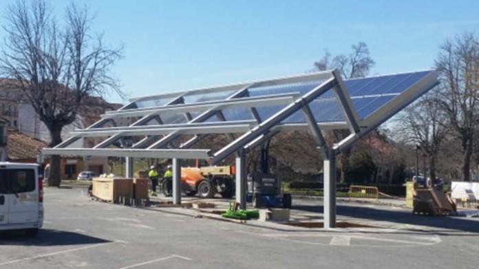 La electrolinera solar de La Granja, en Segovia