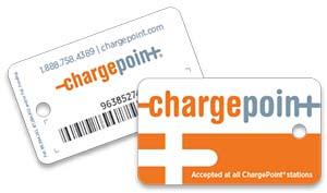 Tarjeta de recarga de ChargePoint