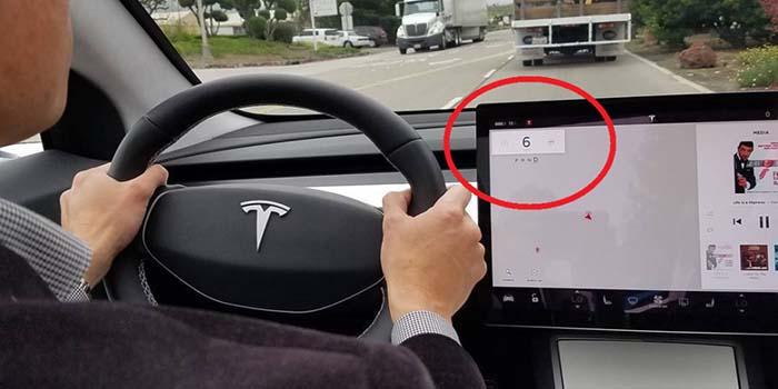 Tesla Model 3 sin head-up-display