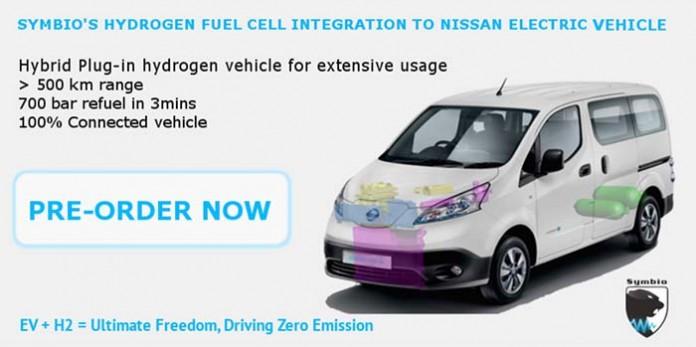 e-NV 200 de hidrógeno de Symbio