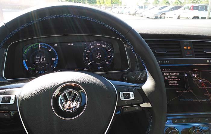 Digital Cockpit y Discover Pro del nuevo Volkswagen e-Golf 2017