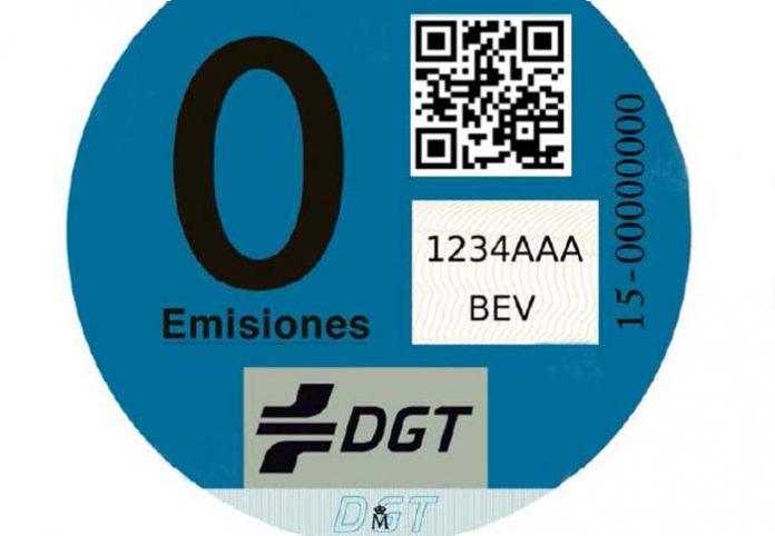 Tarjeta CERO EMISIONES de la DGT
