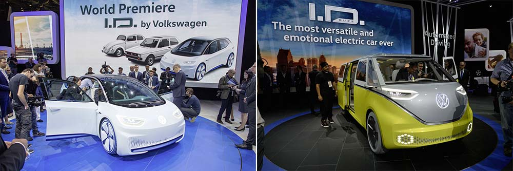 Los dos modelo presentados hasta ahora de la familia Volkswagen I.D.