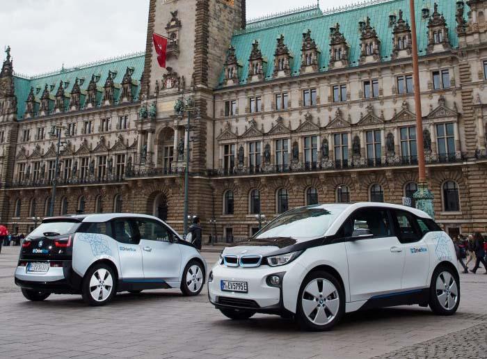 El carsharing de DriveNow en Hamburgo con BMW i3