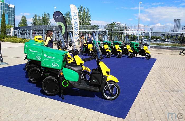 Presentación de scooters eléctricos Silence para Correos