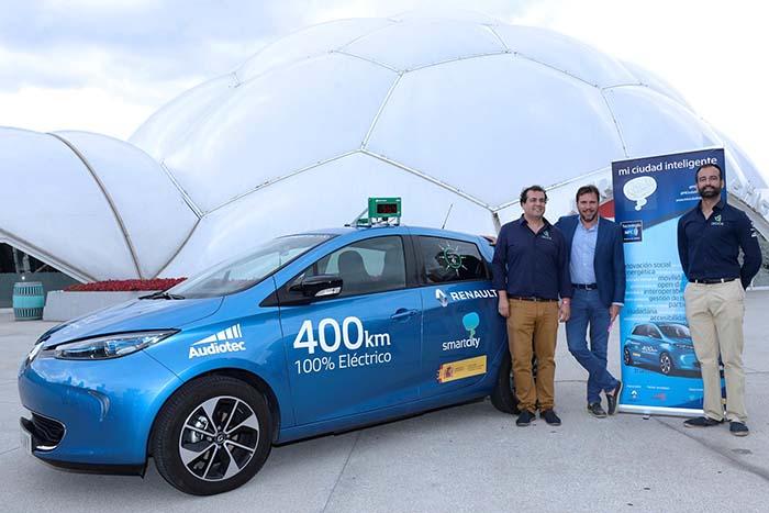 Eduardo Bustillo y Pablo Rodríguez junto a Óscar Puente, alcalde de Valladolid