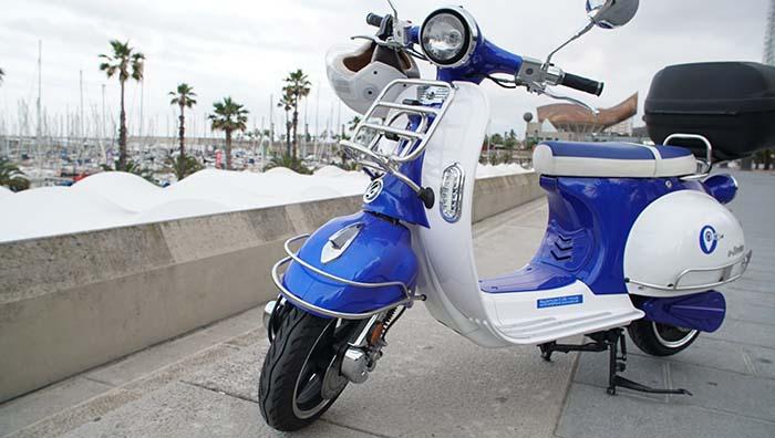 Uno de los modelos del motosharing de Outo