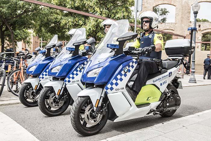 BMW C Evolution adaptada a la Guardia Urbana de Barcelona