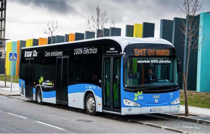 Autobús eléctrico de Irizar en Madrid